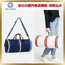 TORY SPORT Stripes Canvas Street Style 2WAY Boston & Duffles