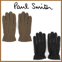 Paul Smith Nylon Blended Fabrics Plain Gloves Gloves