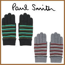 Paul Smith Stripes Blended Fabrics Leather