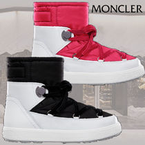MONCLER Mountain Boots Rubber Sole Casual Style Plain Leather