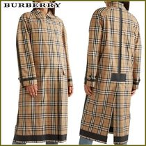 Burberry Other Check Patterns Long Elegant Style Coats