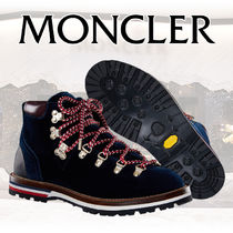 MONCLER Stripes Plain Toe Mountain Boots Rubber Sole Casual Style