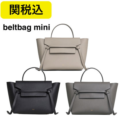 cc87eec896 ... CELINE Shoulder Bags Calfskin 2WAY Plain Elegant Style Shoulder Bags ...