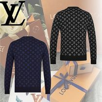 Louis Vuitton Crew Neck Monogram Wool Long Sleeves Knits & Sweaters