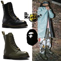 Dr Martens Camouflage Unisex Collaboration Leather Boots