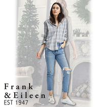 Frank&Eileen Other Check Patterns Casual Style Long Sleeves Cotton Medium
