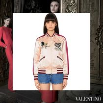VALENTINO Casual Style Medium With Jewels Varsity Jackets
