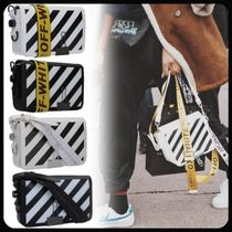 Off-White BINDER CLIP Casual Style Leather Shoulder Bags