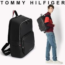 Tommy Hilfiger Unisex Faux Fur Street Style A4 Plain Backpacks