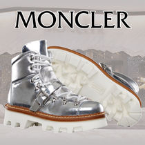 MONCLER Plain Toe Mountain Boots Rubber Sole Casual Style Plain