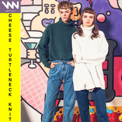 Pullovers Unisex Street Style Long Sleeves Knits & Sweaters