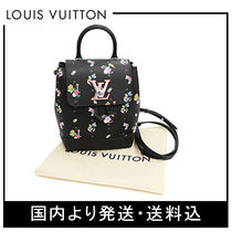 Louis Vuitton MY LOCKME  Leather Backpacks