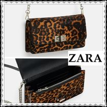 ZARA Leopard Patterns Casual Style 2WAY Chain Shoulder Bags