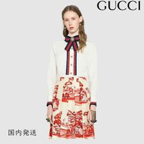 GUCCI Casual Style Long Sleeves Cotton Shirts & Blouses