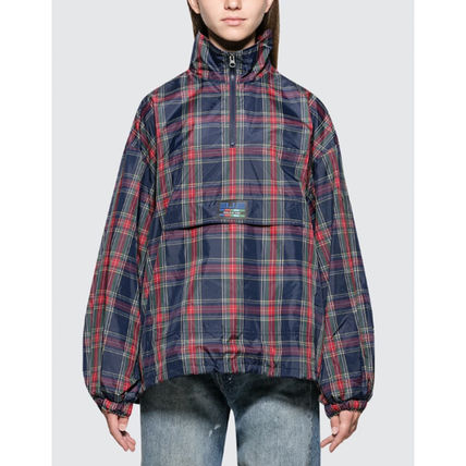Other Plaid Patterns Casual Style Unisex Street Style Medium