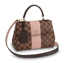 Louis Vuitton DAMIER Blended Fabrics 2WAY Leather Elegant Style Handbags
