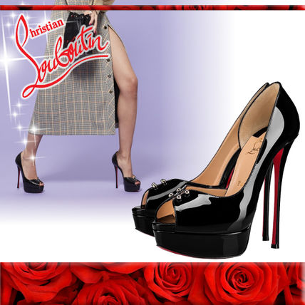 06b69a711a8a ... Christian Louboutin Stiletto Open Toe Leather Pin Heels Stiletto Pumps    Mules ...