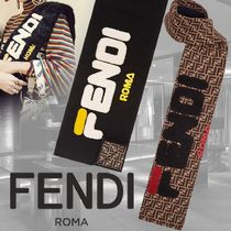 FENDI Monogram Wool Heavy Scarves & Shawls