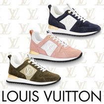 Louis Vuitton Round Toe Rubber Sole Casual Style Suede Low-Top Sneakers