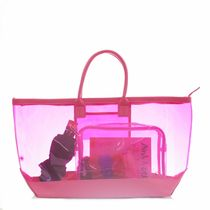 STEPHANIE JOHNSON Casual Style A4 Plain Crystal Clear Bags PVC Clothing Totes