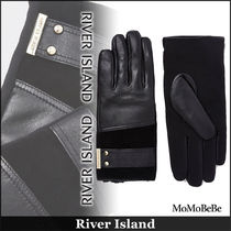 River Island Plain Leather Leather & Faux Leather Gloves