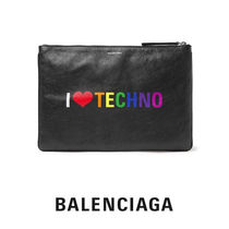 BALENCIAGA EVERYDAY TOTE Unisex Lambskin A4 Clutches