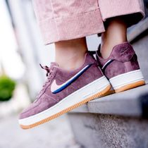 Nike AIR FORCE 1 Casual Style Velvet Street Style Plain Low-Top Sneakers