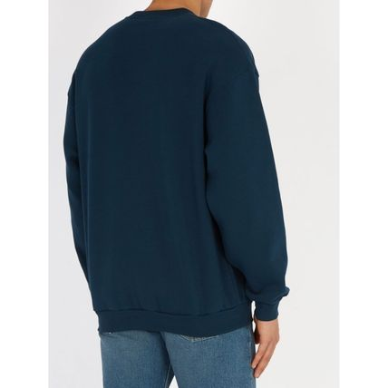 BALENCIAGA Sweatshirts Crew Neck Street Style Long Sleeves Plain Cotton Sweatshirts 3