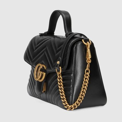 a7ee896c38f ... GUCCI Shoulder Bags Heart 2WAY Plain Leather Elegant Style Shoulder Bags  2 ...