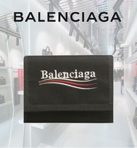 BALENCIAGA Unisex Nylon Folding Wallets