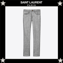 Saint Laurent Wool Plain Skinny Fit Jeans & Denim