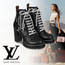 Louis Vuitton Casual Style Blended Fabrics Plain Leather