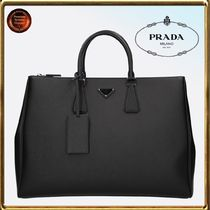 PRADA Calfskin 2WAY Plain Business & Briefcases