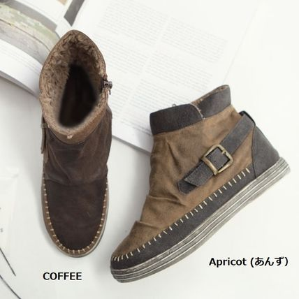 Argile Wedge Round Toe Casual Style Faux Fur Street Style