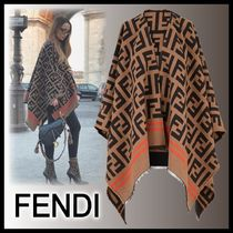 FENDI Monogram Wool Medium Ponchos & Capes