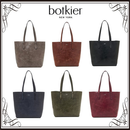 Unisex A4 Leather Totes