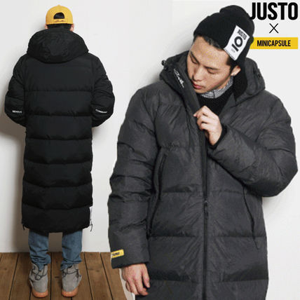 Street Style Collaboration Plain Long Down Jackets