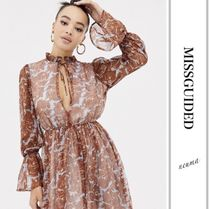Missguided Long Sleeves Elegant Style Dresses
