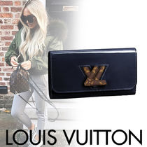 Louis Vuitton TWIST Calfskin Blended Fabrics Street Style With Jewels