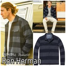 Ron Herman Button-down Stripes Wool Street Style Long Sleeves Shirts