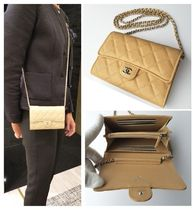 CHANEL MATELASSE Casual Style 3WAY Chain Leather Shoulder Bags