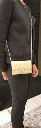 CHANEL Shoulder Bags Casual Style 3WAY Chain Leather Shoulder Bags 7