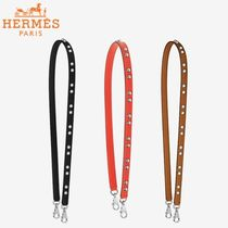 HERMES Casual Style Studded Plain Leather Bags