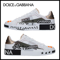 Dolce & Gabbana Street Style Leather Sneakers
