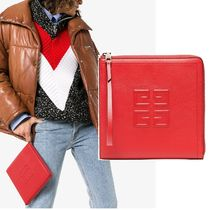 GIVENCHY Casual Style Lambskin Plain Clutches