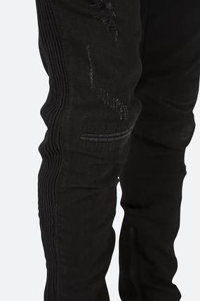 Tapered Pants Street Style Plain Cotton Jeans