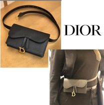 Christian Dior Casual Style Unisex Plain Clutches
