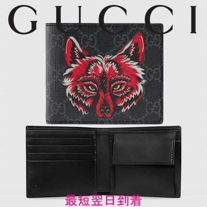 watch c5b28 5828d GUCCI GG Supreme 2019 SS Leather Folding Wallets (451266 91MAN 9789)