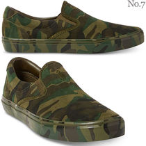 Ralph Lauren Camouflage Suede Street Style Khaki Loafers & Slip-ons