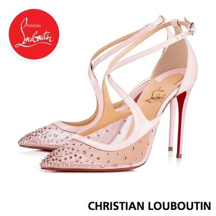 san francisco d1d55 f6e7d Christian Louboutin Twistissima 2018-19AW Plain Pin Heels Elegant Style  Pointed Toe Pumps & Mules (1180586P229)